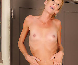 Skinny 36 year old stacey y takes a break from her workout and strips-stacey y-f - part 2724
