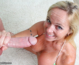 Perverted milf dani milking her step son and get facials - part 3294