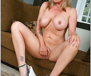 Busty blonde cougar gets her mature pussy fucked by a young stud - part 2197