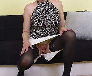Naughty blonde housewife playing alone - part 2719