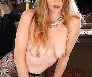 Elegant blonde jose from allover30 strips and spreads in fishnets-jose-jul 5th, - part 1024