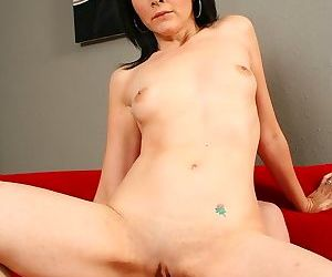 Dark haired hottie getting her pussy filled with her stepson - part 102