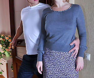 Sex starved milf cheats on her hubby getting down with a younger - part 2095