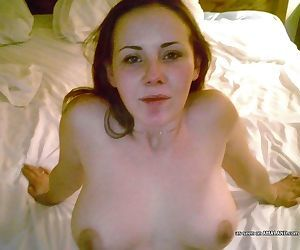 Shaved naked wife posing sexy for her hubby - part 2427