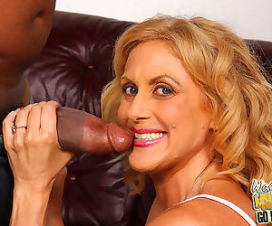 Busty mature rides a huge black cock in front of her own son - part 104