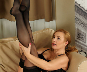 47 year old viky loving her black stockings - part 2153