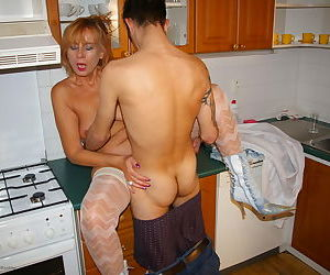 Kinky housewife fucked in her kitchen - part 14