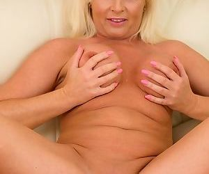 Busty mature blonde casey szilvia in pink lingerie strips - part 6