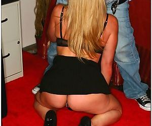 Mature blonde takes a big johnson and rides it like a pro - part 11