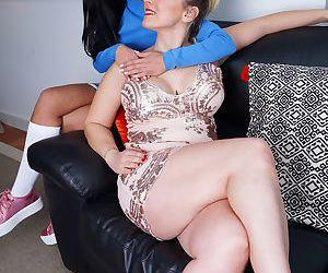These horny old and young lesbians make out and then some - part 7