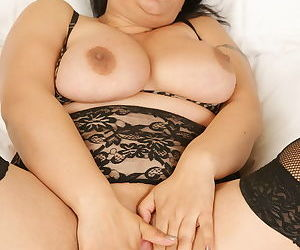 Chubby mama with big tits getting frisky - part 19