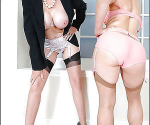 Two british mistress in stockings - part 14