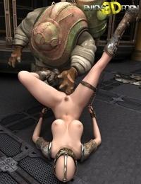 Horny slut having fun with her robot - part 9