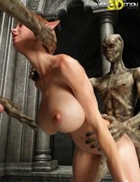 Two aliens fucks slutty elven babe - part 11