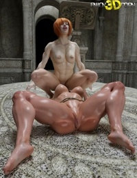 Muscled oiled up lesbians likes to lick pussy - part 9