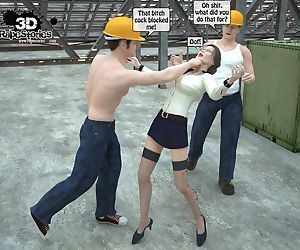 Two workers rape the chief woman- 3DStories
