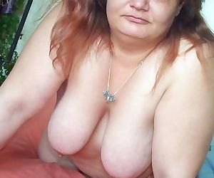 Fat white trash playing with herself - part 3160