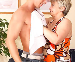 Sexy busty blond granny sucking and fucking young stiff dick - part 4373