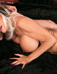 Mature slut with huge boobs Sally DAngelo gets pounded from behind by a stud