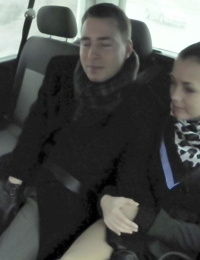 Czech hottie Ander Ways takes off he clothes and fucks in the backseat