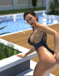 psmike- Poolside Swimsuit Fisting
