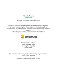 Bot- Green Glow Issue 1
