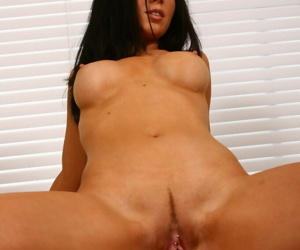Older lady with black hair rides her younger lovers dick during anal sex