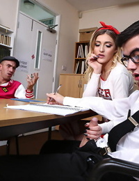 Hot college chearleader girl squirting in classroom - part 4498