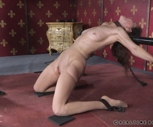 Skinny older woman Paintoy Emma has her bare ass caned by another woman