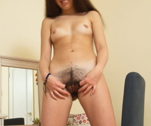 Amateur wife Dalila peels off to uncover her hairy twat 7 finger on her knees