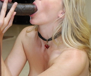 Blonde MILF Julia Ann adores some interracial sex with a large black cock