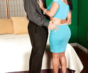 Mature latina fatty with big tits Daylene Rio fucking with handsome stag