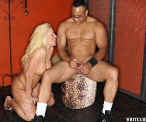 Interracial sex with a busty blonde mature Carla Craves and her boyfriend