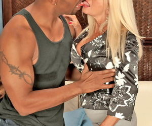 Mature blonde woman Julia Butt decides she like some BBC up her filthy asshole