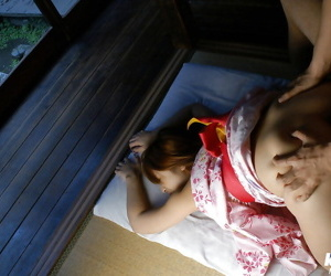 Asian teen Nanami Wakase gets her bushy cunt fingered and cocked up
