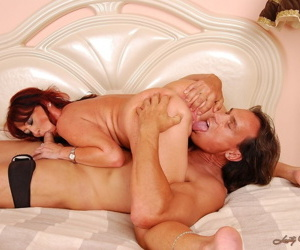 Mature redhead Mary-Kate enjoys a hardcore anal fuck with a young stud