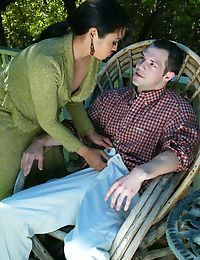 Mature lady Mika Tan catches her man smoking and he is in big trouble