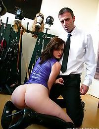 Amateur Vivienne lAmour gets force fed cock and fucked in rough BDSM session