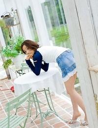 Japanese babe jun kiyomi shows hooters poses outdoors - part 2189