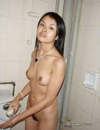 Compilation of an asian babe posing naked in a motel room - part 210