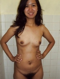 Wild filipina girlfriend demonstrating off her very furry pussy - part 305