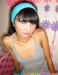 Incredibly skinny thai teen eaw strips for us in her bedroom - part 882
