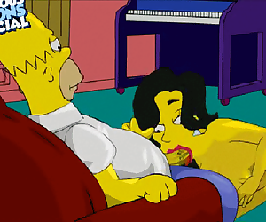 Homer getting a oral pleasure and spunking in her gullet