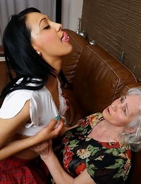 Furry granny getting licked by a hot young lezzie honey - part 3420