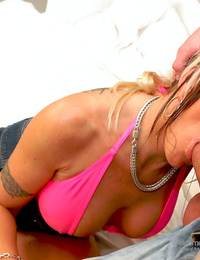 Punk rock mother angel ray on a cuckold wife slut booty-eating - part 1387