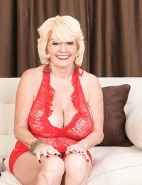 Huge boobed mature blond deep throats and fucks like a last time - part 366