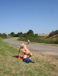 Hitchhiking granny getting a hard screw and a rail - part 4485