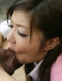 Japanese secretary Shino Nakamura keeps her job by munching the bosss semen