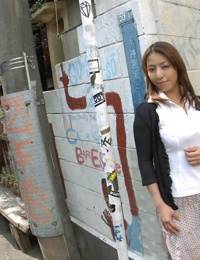 Young Japanese lady Royoko bares her handsome body before hook-up