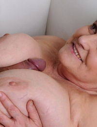 Old and thick brunette granny Irma gets fucked by a horny pornography actor